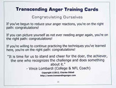 Transcending Anger Training Cards